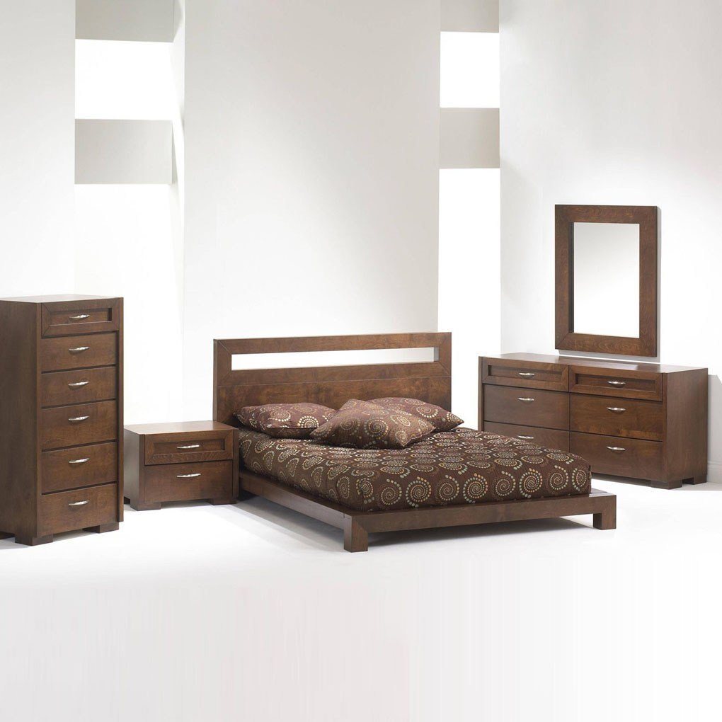 Best Madrid Platform Bed Bedroom Set Brown Queen Bedroom Sets With Pictures