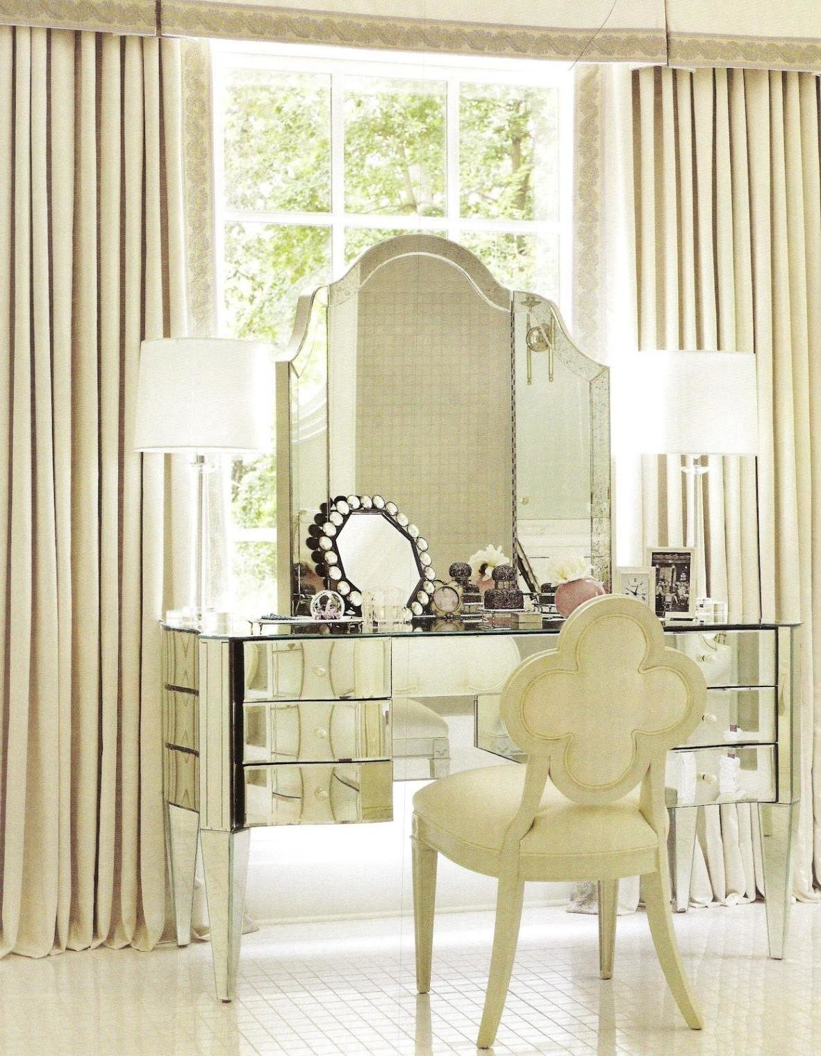 Best Glass Mirror Vanity Vanity Tables For The Bedroom With Pictures