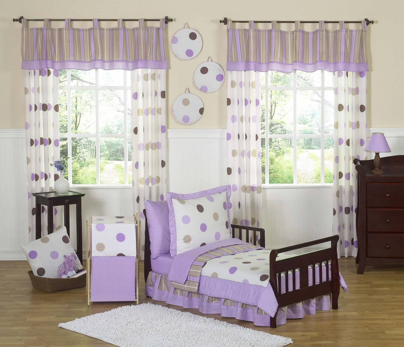 Best Purple And Beige Bedroom Ideas Purple Toddler Bedding With Pictures
