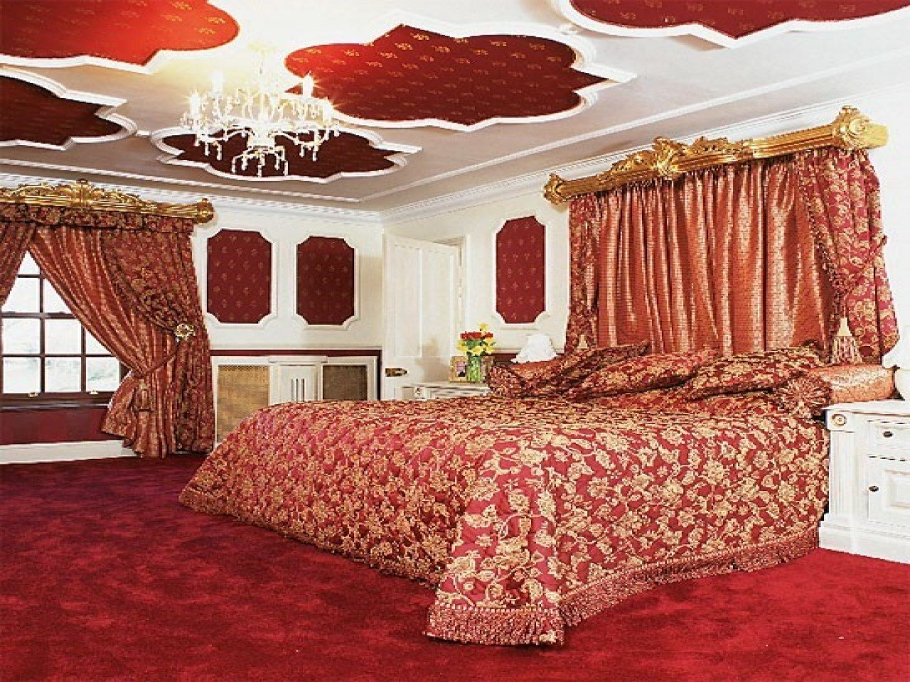 Best Design Your Own Bedroom Wallpaper Red And Gold Bedroom With Pictures