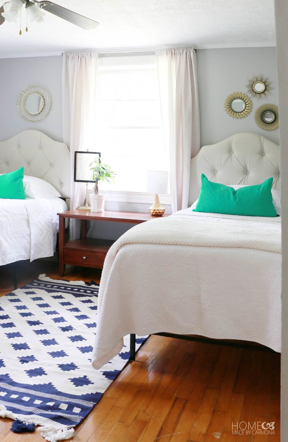 Best Twin Bedroom Makeover Home Made By Carmona With Pictures