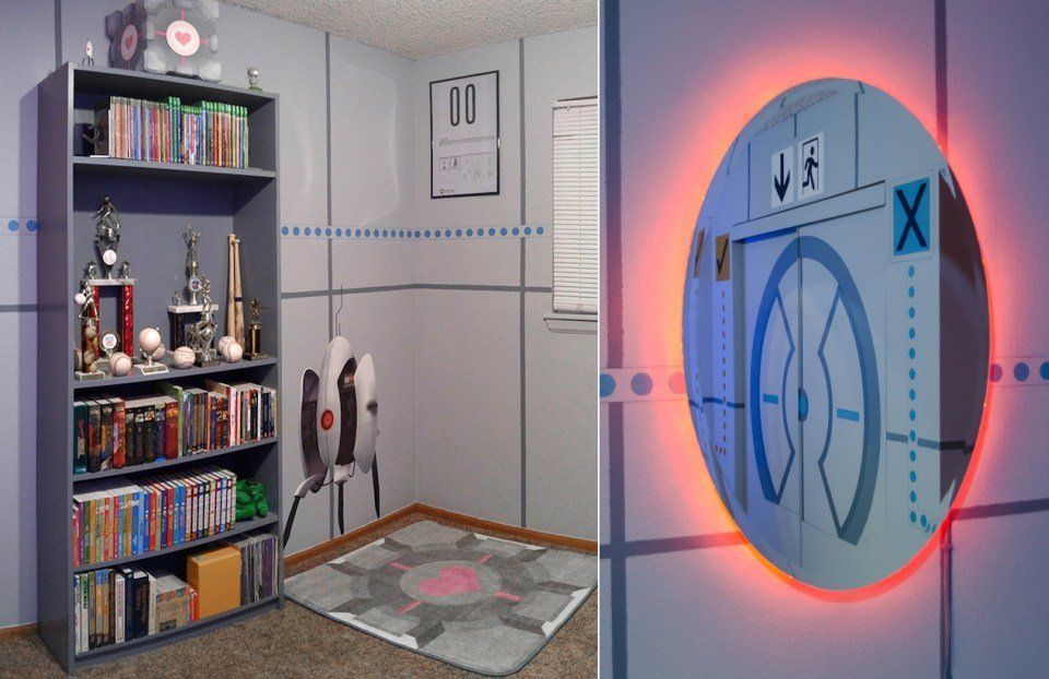 Best Portal Themed Bedroom Transports You Into A Gaming Zone With Pictures
