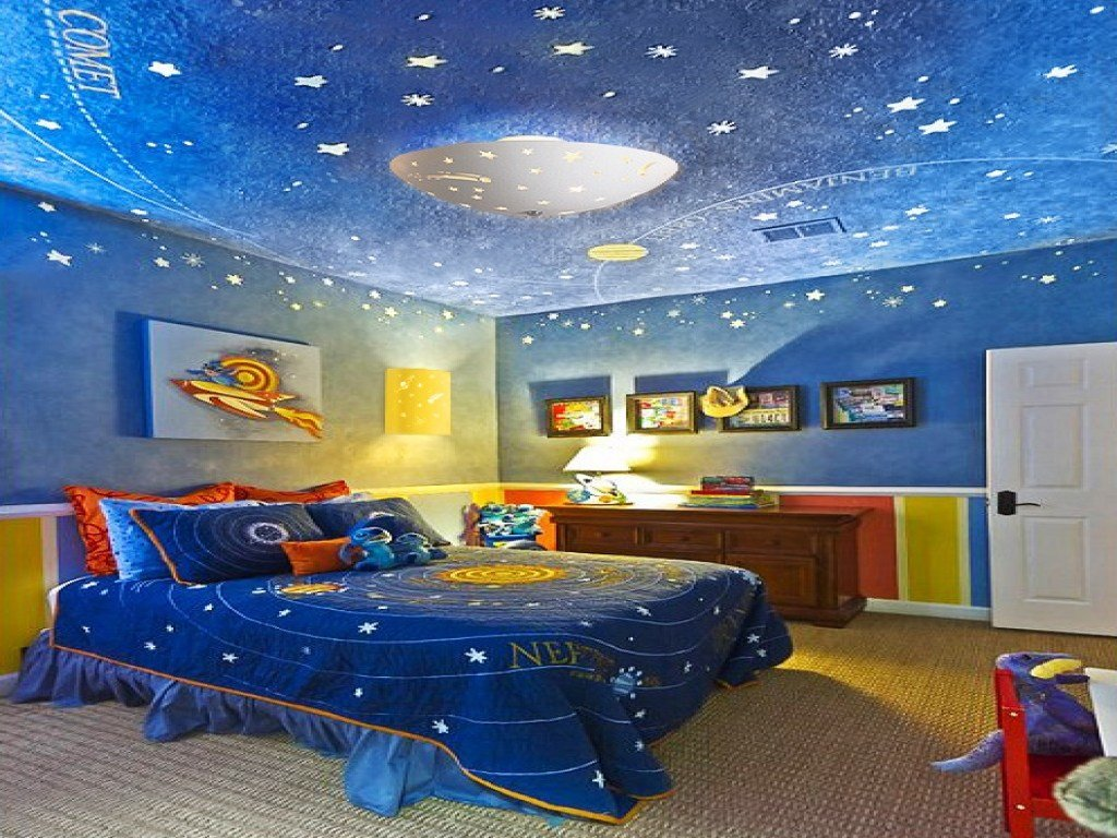 Best Children S Lighting Outer Space Themed Bedrooms Space With Pictures