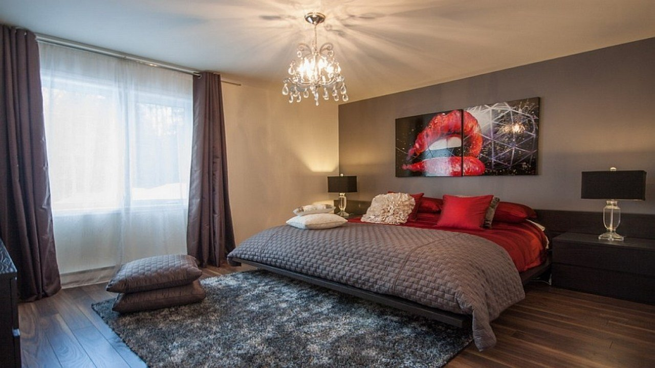 Best Red And Gray Bedroom Red And Gray Bedroom Ideas Romantic With Pictures