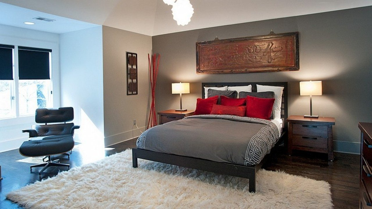 Best Gray And Red Bedroom Red And Grey Bedroom Decorating With Pictures