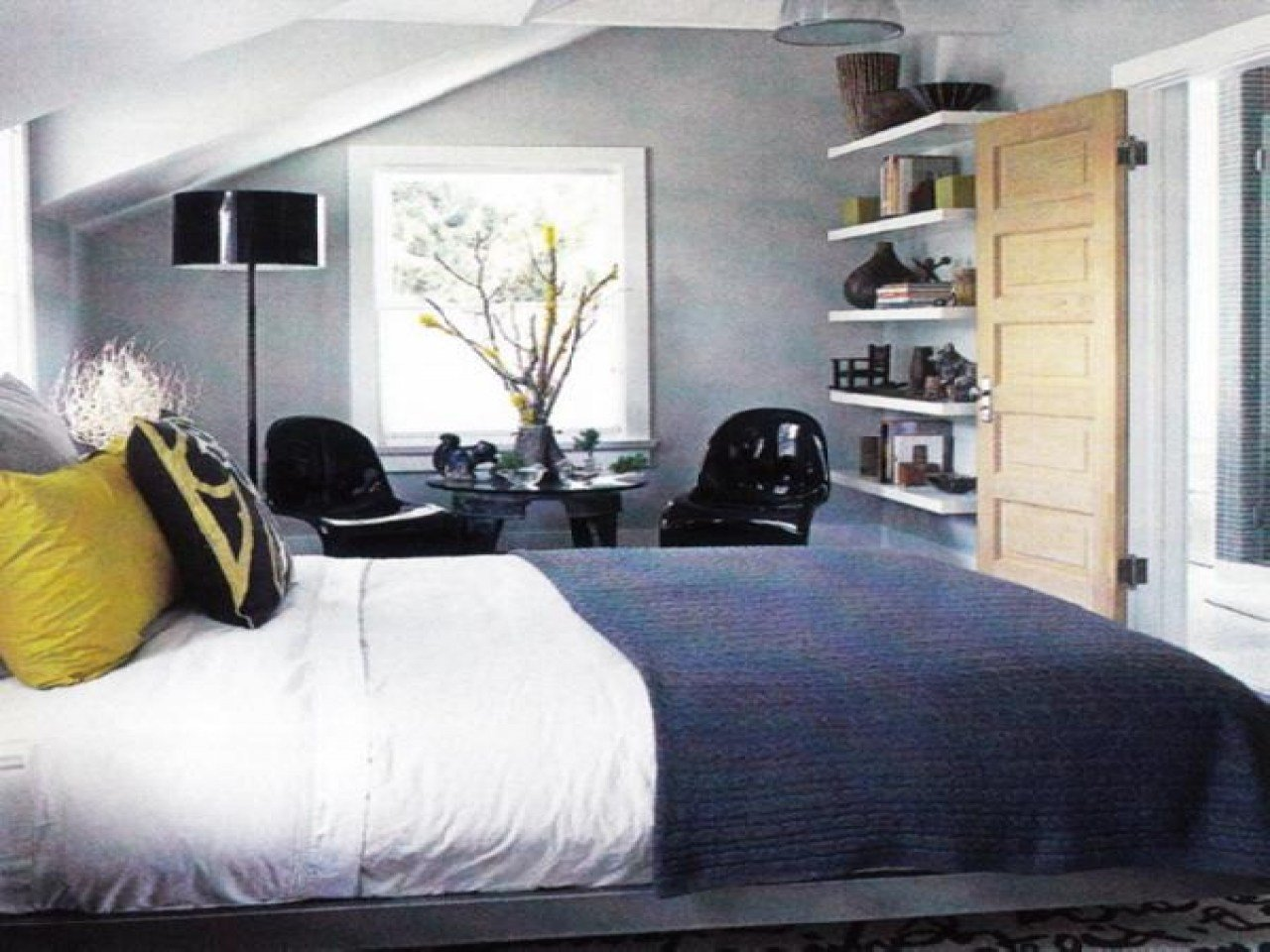Best Gray And Blue Bedroom Yellow And Navy Blue Dresses Navy With Pictures