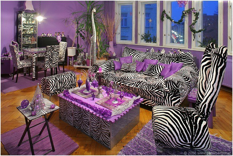 Best Zebra Stripes Purple Accent Living Room Pictures Photos With Pictures