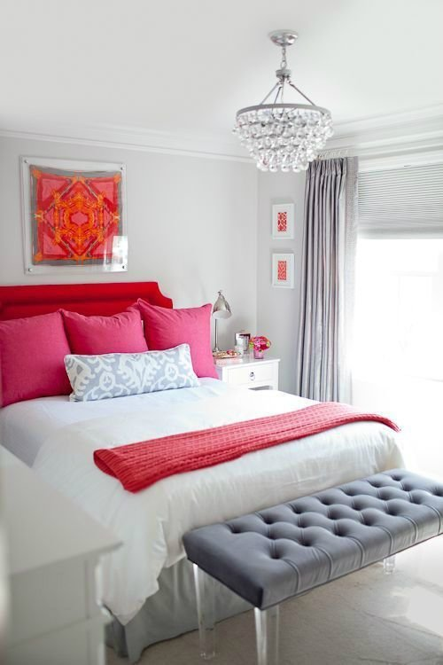 Best Romantic Red Pink And Gray Bedroom Color Scheme Pictures With Pictures