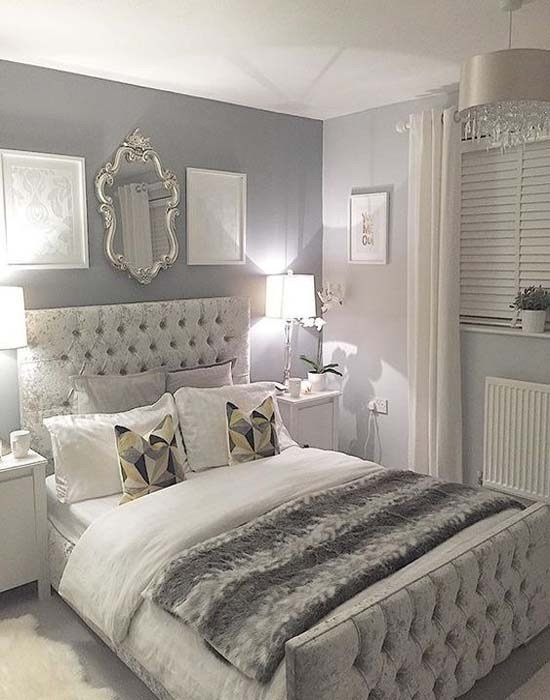 Best Silver And Grey Glamour Bedroom Modren Villa With Pictures
