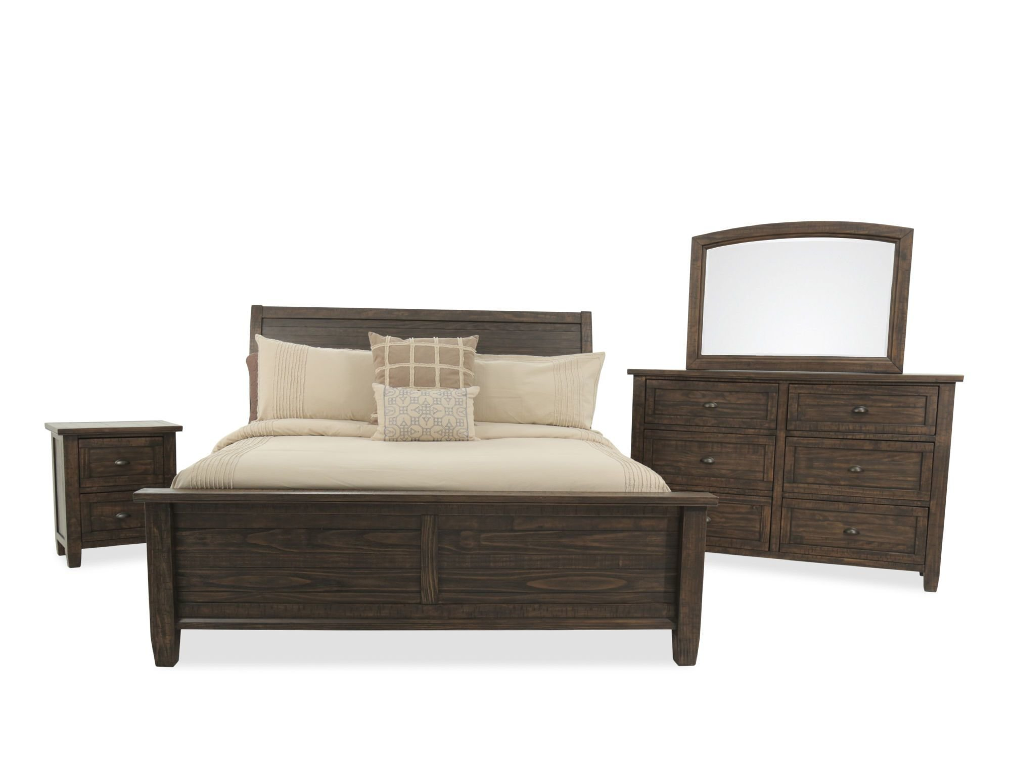 Best Three Piece Traditional Solid Wood Bedroom Set In Golden With Pictures
