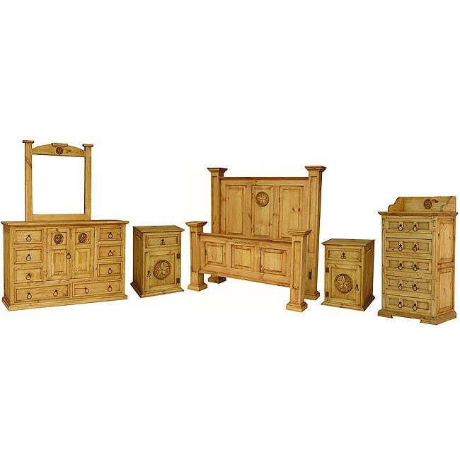 Best Rustic Pine Oasis Bedroom Set With Queen Oasis Star Bed With Pictures