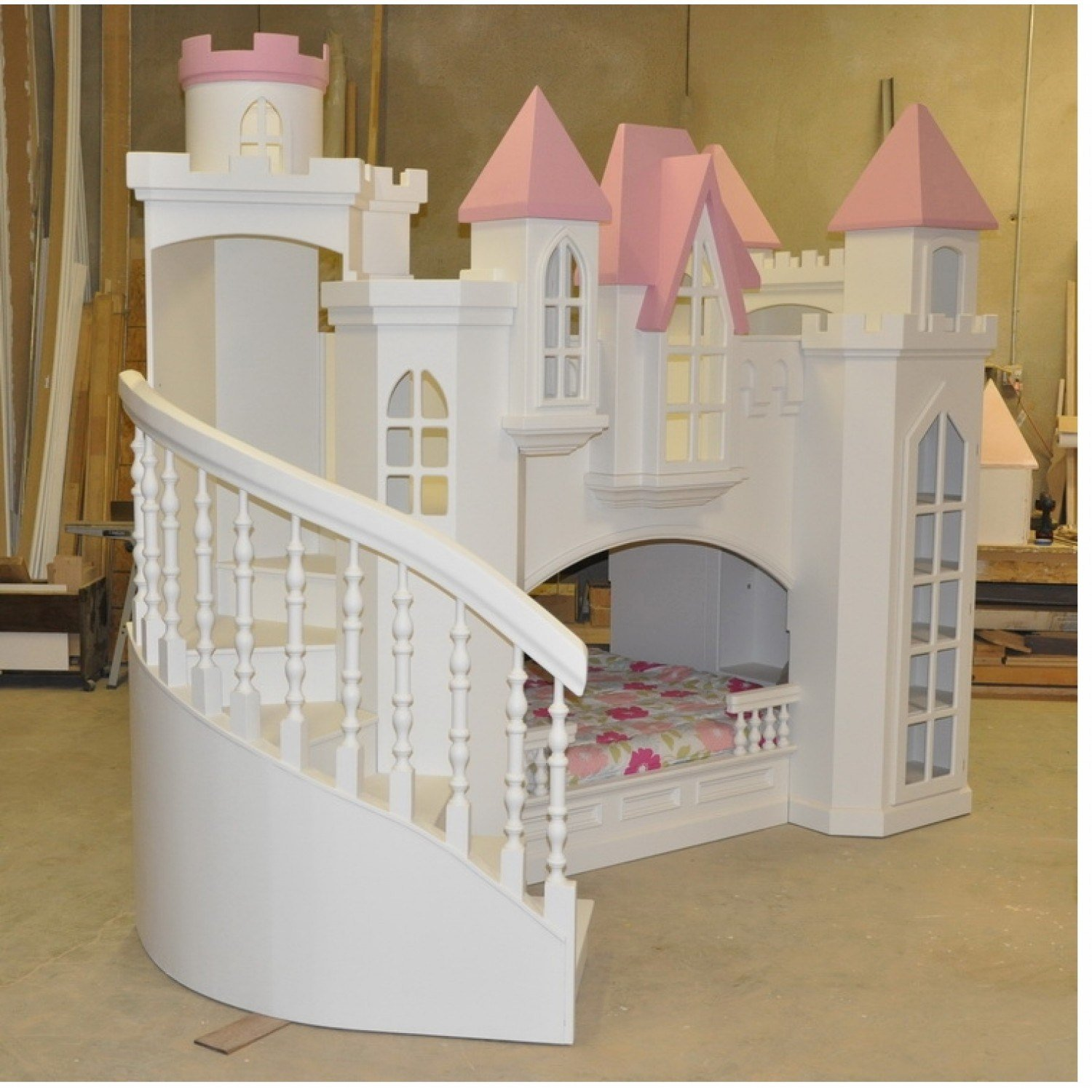 Best Bedroom Attractive Pink Princess Bunk Bed For Girls With Pictures