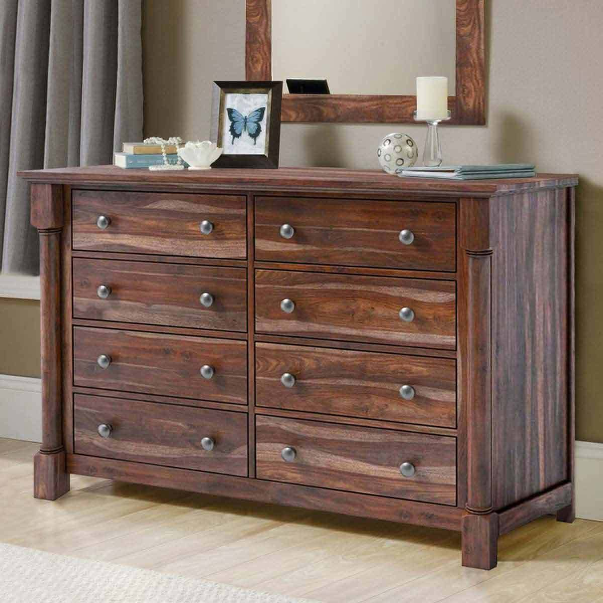 Best Pioneer Transitional Solid Wood 8 Drawer Bedroom Double With Pictures