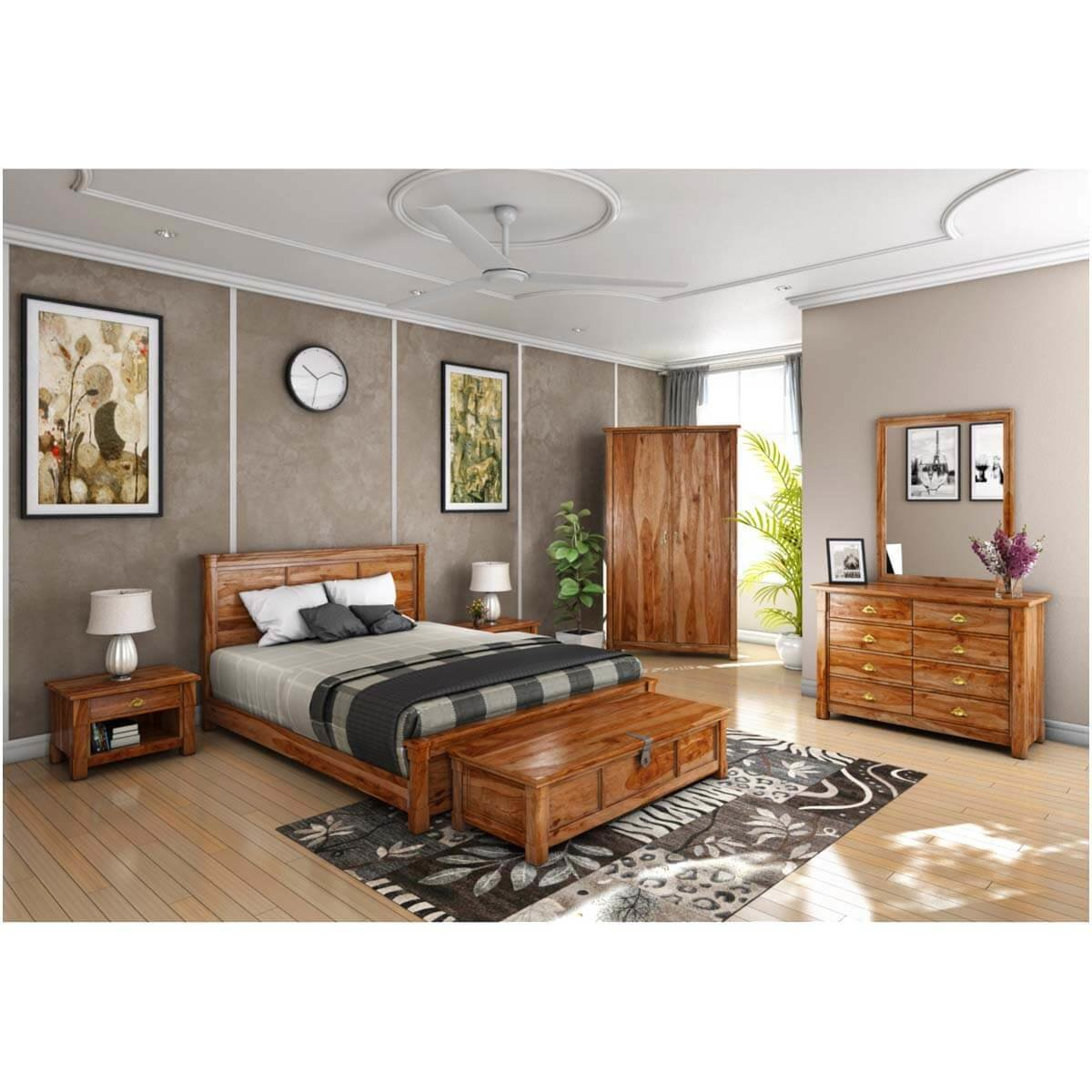 Best Modern Farmhouse 7 Piece Bedroom Set With Pictures
