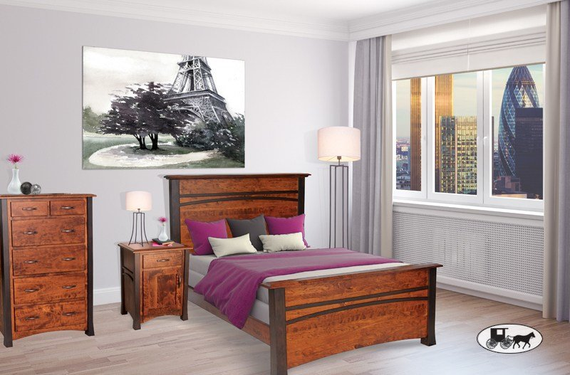 Best Amish Adirondack Real Wood Bedroom Sets New York With Pictures