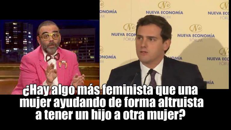 VÍDEO   Bob Pop pide una orden de alejamiento para Albert Rivera de la palabra feminismo. ¿Hay algo más feminista que una mujer ayudando de forma altruista a tener un hijo a otra mujer?