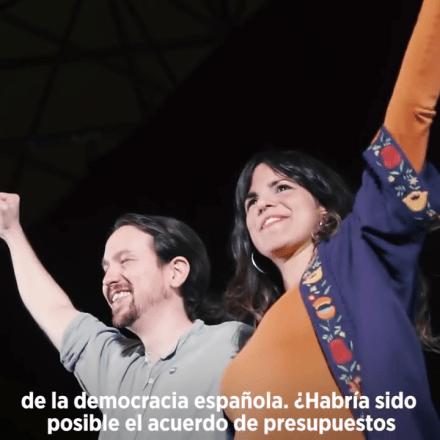 """Denunciados Pablo Iglesias y Teresa Rodríguez por delito de odio por la """"alerta antifascista"""" contra Vox."""