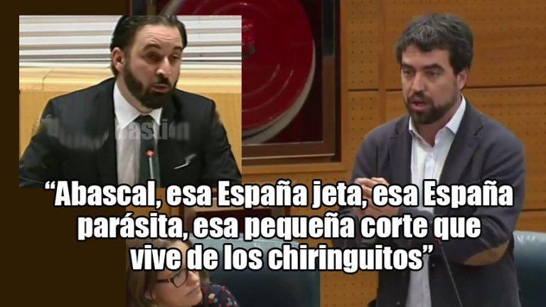 """""""Abascal, esa España jeta, esa España parásita, esa pequeña corte que vive de los chiringuitos"""". H. Martínez (Podemos)"""