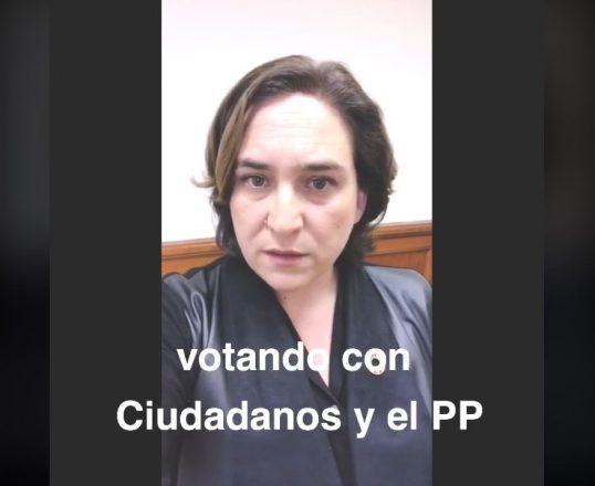 """""""Ha sido duro. No me lo creo, lo siento, han votado con PP y Ciudadanos"""". Colau sobre el voto de los independentistas a los PGE."""