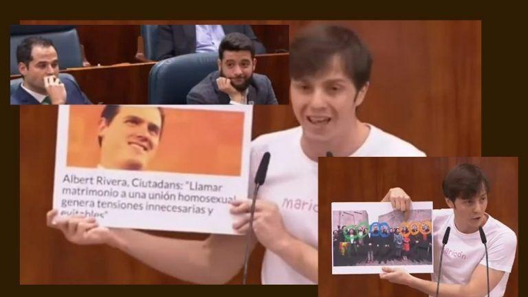 """Dip. gay de Podemos aflora los """"trucos de escapismo"""" de Ciudadanos con el colectivo LGTBI"""