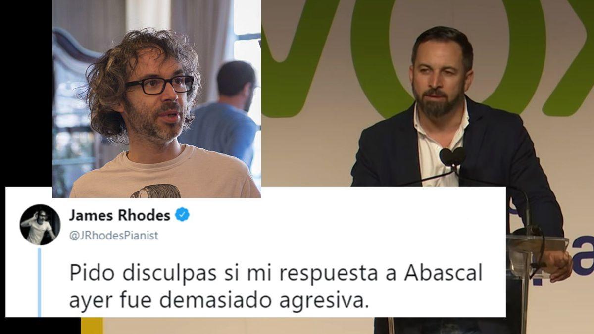 El músico James Rhodes amenaza con agredir a Santiago Abascal y Twitter le reporta