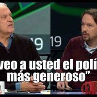 """""""Le veo a usted el político más generoso"""". Javier Aroca a Pablo Iglesias"""