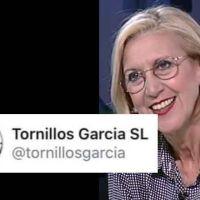 Rosa Díez se lleva el zasca más elegante del año por parte de una empresa de tornillos