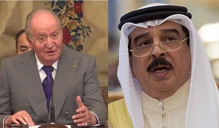 El rey Juan Carlos I con el sultán Bahréin