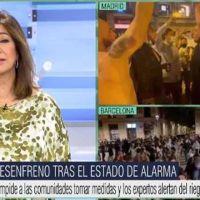 Vídeo | Ana Rosa expuesta de nuevo por su partidismo: culpa a Sánchez de los botellones