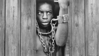 LeVar Burton as Kunta Kinte in Roots (1977).
