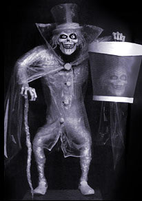 The Hatbox Ghost was removed in 1969 because you could see both heads.