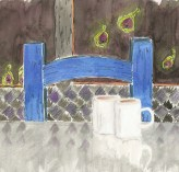 Blue Chair With Figs....