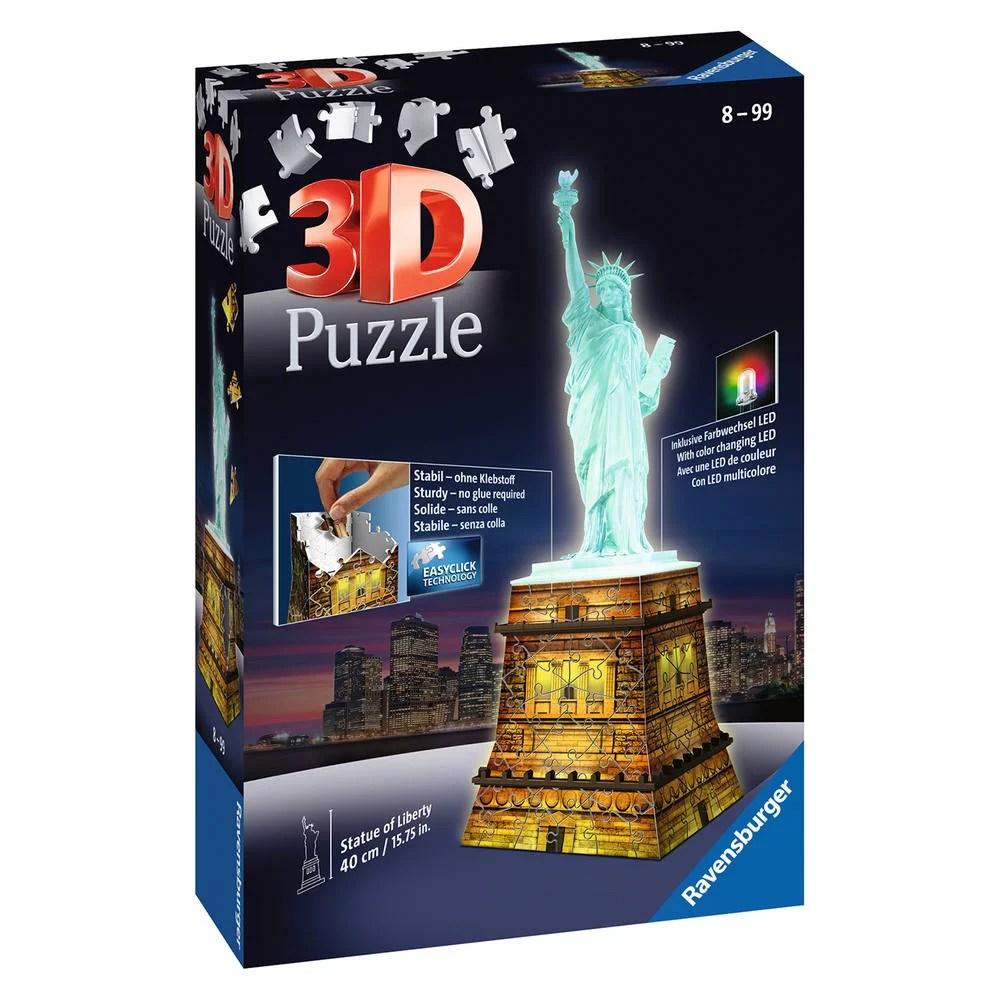 puzzle 3d 108 pieces statue de la