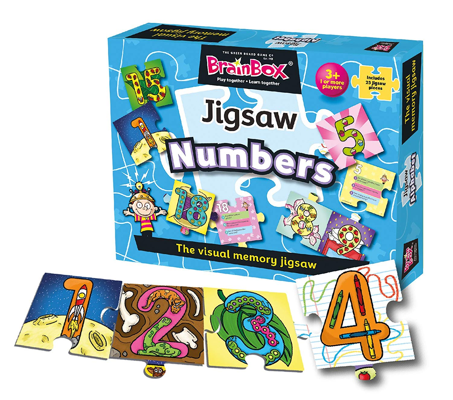 Numbers The Visual Memory Jigsaw Joueclub