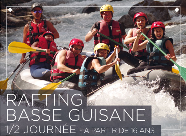 White water rafting al basso Guisane
