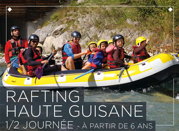 Rafting discovered on the high Guisane of Monêtier in St Chaffrey.