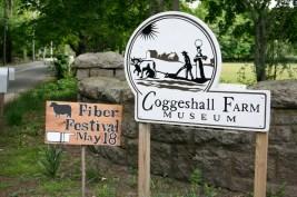 Coggeshall Farm in Bristol RI hosts the Fiber Festival every year.