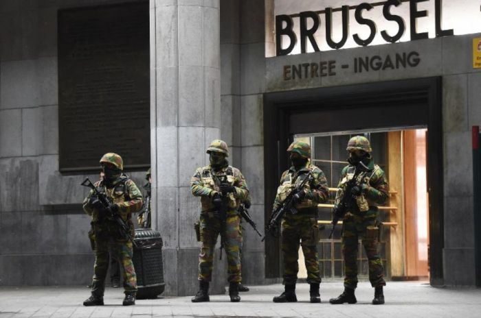 Brussels, Belgium On Lock-Down