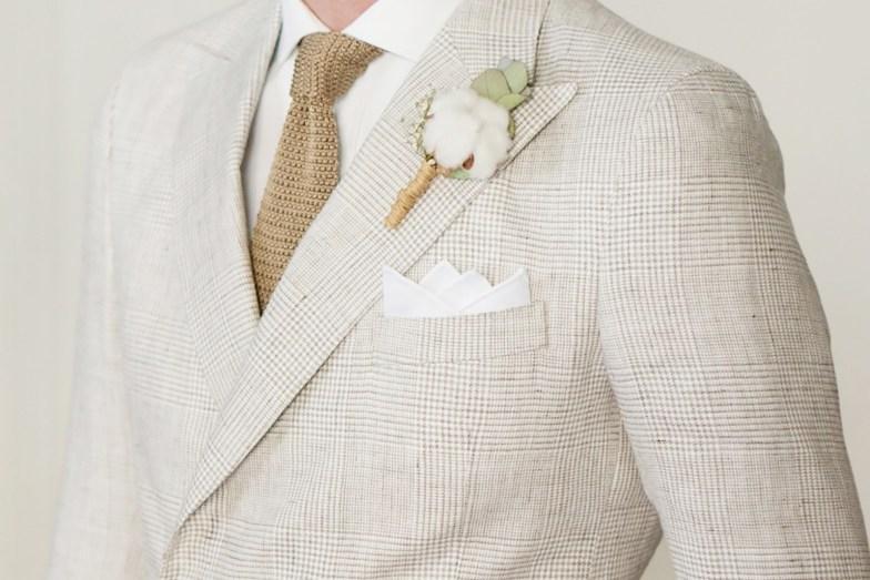 Tissu en lin motif Prince de Galles pour costume de mariage sur mesure