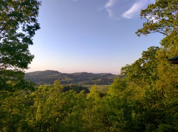 OK, this isn't actually Cades Cove. This is the view when we arrived home :-)