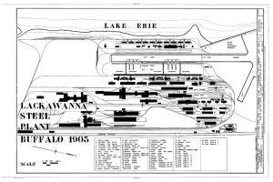 1903 Plan for Lackawanna's Bethlehem Steel Plant