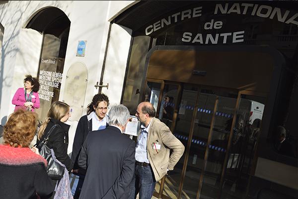 Journée portes ouvertes du centre natoinal de santé CCAS de Richerand Laurent Robert, Jean-Marc Montagnon et Patrick Guillot©D.Delaine/ccas