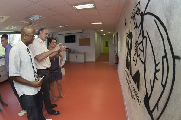 L'Art dans l'Entreprise Agence EDF de Montpellier avec la CMCAS de Languedoc © Eric Raz/CCAS