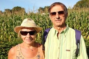 Jean-Claude et Arlette Vital bénéficiaires de Saint Etienne en vacances à Saint-Pée © Noémie Coppin/ccas