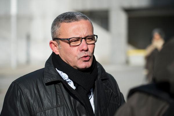 Claude Pommery (FNME-CGT), Réunion tripartite du 17 février 2016 (1% financement CCAS) au ministère de l'Energie à La Défense © Julien Millet