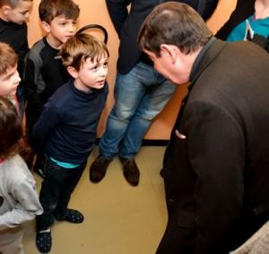 Patrick Kanner, ministre de la ville, de la jeunesse et des sports, en visite à Saint-François-de-Sales (Savoie) © Elise Rebiffé