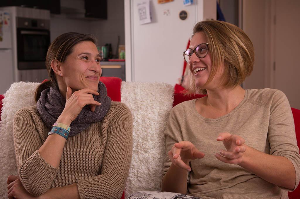 Julie Sépé et Camille Tassot travaillent à la centrale de Civaux et sont engagées dans les activités sociales. ©C.Crié/CCAS