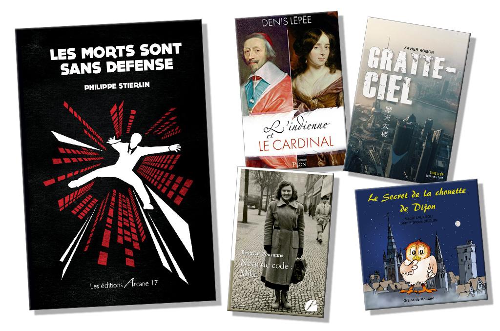 Les cinq livres sélectionnés pour la dotation lecture 2018 de la CCAS , écrits par des bénéficiaires des Activités Sociales.