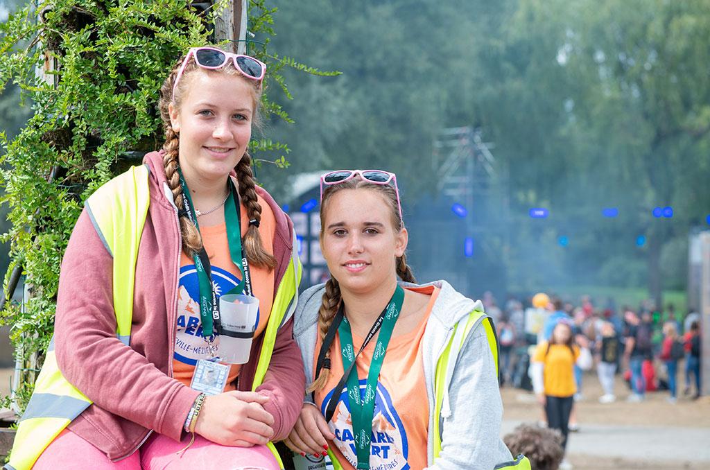 Une belle complicité s'est nouée entre Mathilde et Julie au rythme des activités et de leur intervention sur le festival. ©Didier Delaine/CCAS