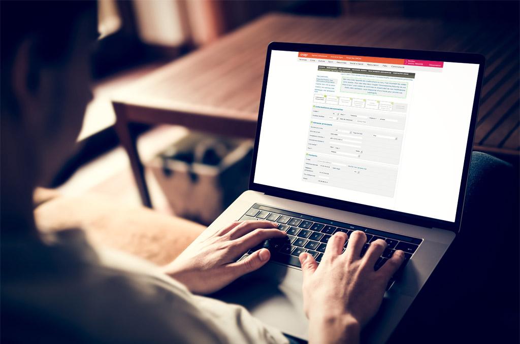 """La rubrique """"mon compte"""" du site ccas.fr vous permet d'accéder à vos informations personnelles et de les modifier. ©DR"""